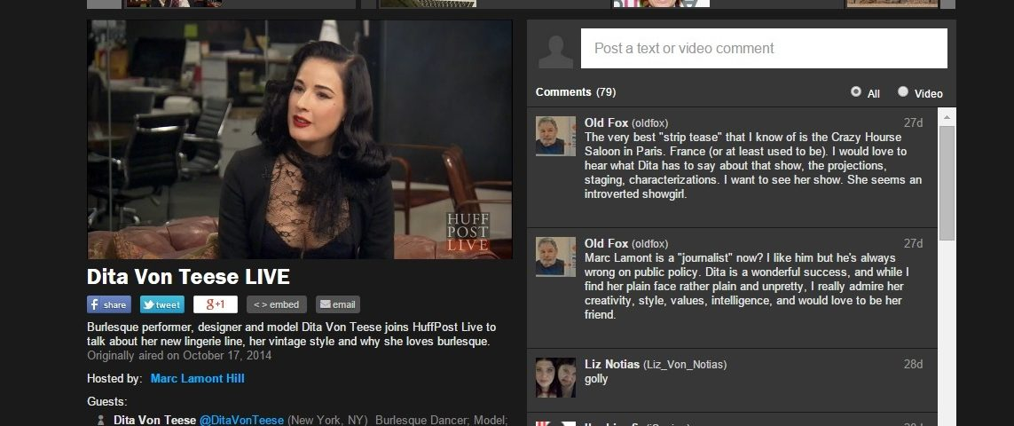 images pics dita live 1143x480 - Dita joins Huffington Post Live to talk about her new lingerie line