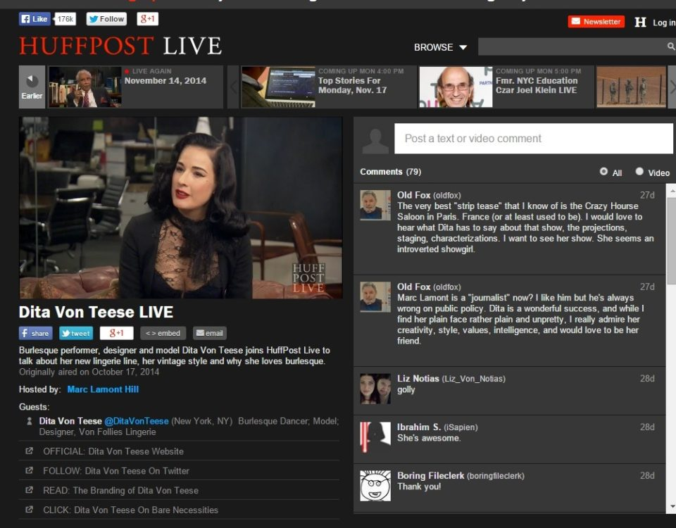 images pics dita live 960x750 - Dita joins Huffington Post Live to talk about her new lingerie line