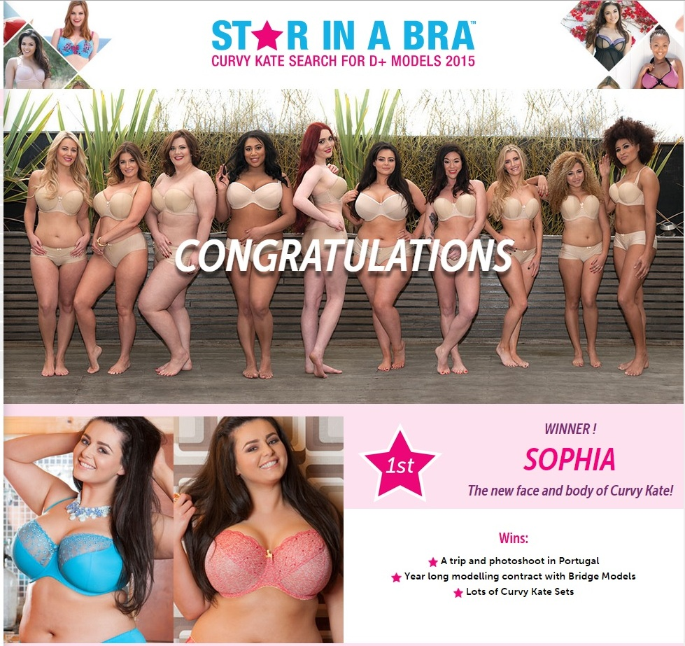 images pics ck winner - Winner of Strar-in-Bra competition for Curvy Kate new face